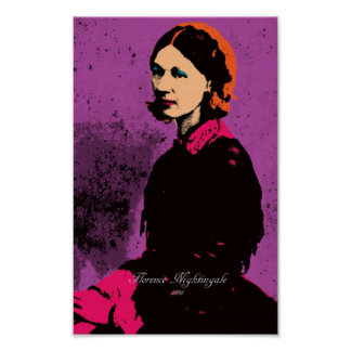 Florence Nightingale con arte pop Póster