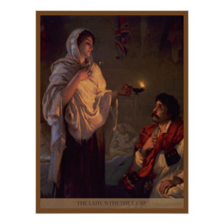 Florence Nightingale Lady with the Lamp Poster