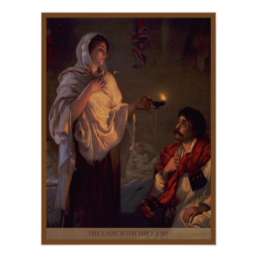 Florence Nightingale Lady with the Lamp Posters