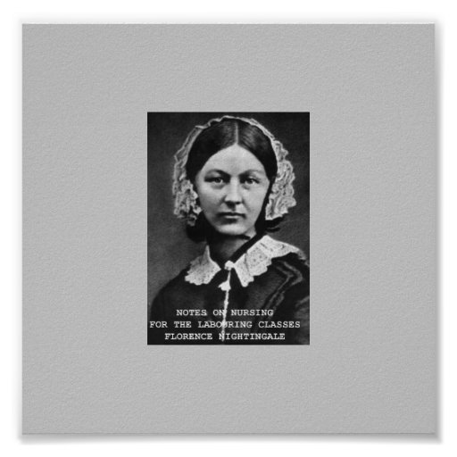 Florence Nightingale  Notes Poster