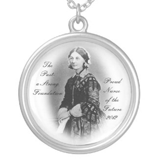 Florence Nightingale-Nursing Graduate Round Pendant Necklace