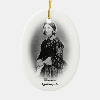 Florence Nightingale-Nursing Graduate+personalize Double-Sided Oval Ceramic Christmas Ornament