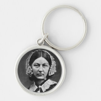 Florence Nightingale Nursing Silver-Colored Round Keychain