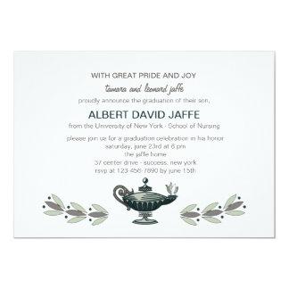 Florence Nightingale Oil Lamp Graduation Invitatio Card