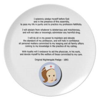 Florence Nightingale Pledge Dinner Plate