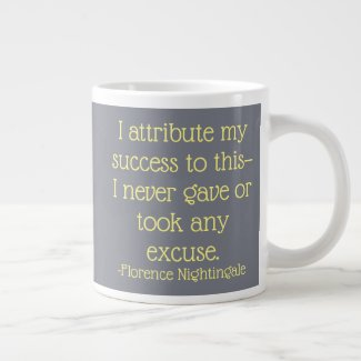 Florence Nightingale Quote Mug, Attribute Success Large Coffee Mug