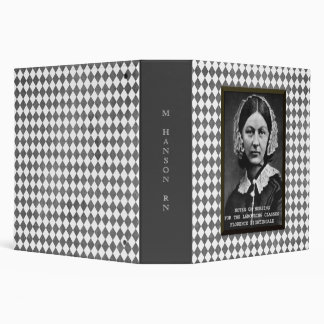 Florence Nightingale Vintage Nursing School Custom 3 Ring Binder