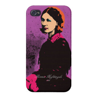Florence Nightingale with Pop Art Case For iPhone 4