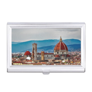 Florence old city, Italy skyline Business Card Case