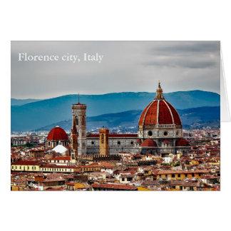 Florence old city, Italy skyline Card