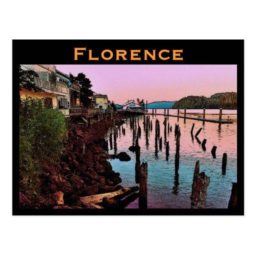 Florence (OR) Postcard