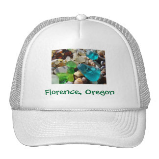 Florence Oregon Truckers Hats Beach Seaglass Agate