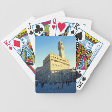 Florence - Piazza della Signoria Bicycle Playing Cards