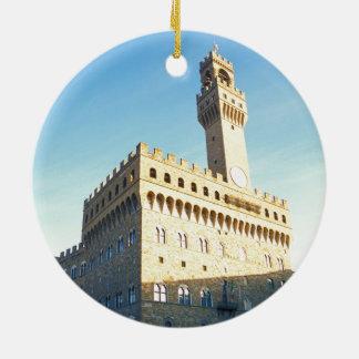 Florence - Piazza della Signoria Ceramic Ornament