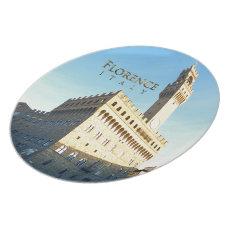 Florence - Piazza della Signoria Melamine Plate