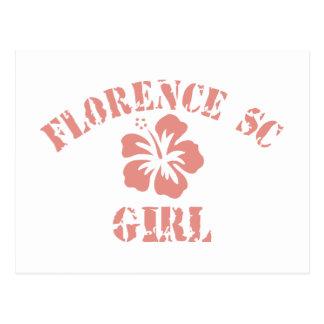 Florence Pink Girl Postcard