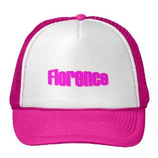 Florence Pink White Cap