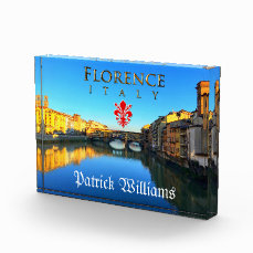 Florence - Ponte Vecchio Acrylic Award