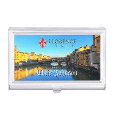 Florence - Ponte Vecchio Case For Business Cards