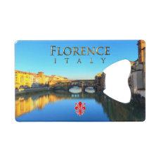 Florence - Ponte Vecchio Credit Card Bottle Opener