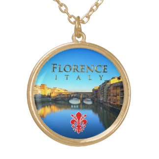 Florence - Ponte Vecchio Gold Plated Necklace