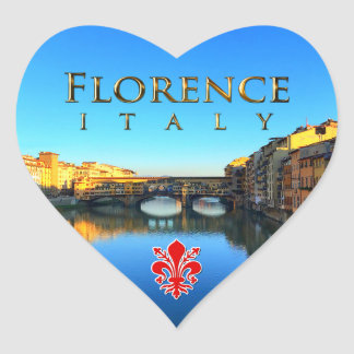Florence - Ponte Vecchio Heart Sticker