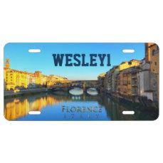 Florence - Ponte Vecchio License Plate