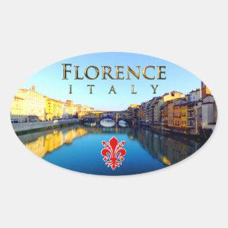 Florence - Ponte Vecchio Oval Sticker