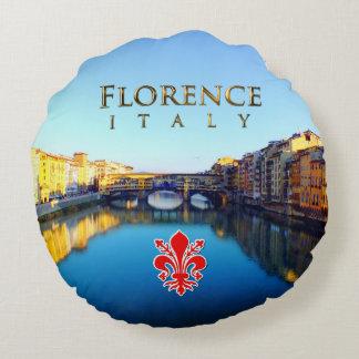 Florence - Ponte Vecchio Round Pillow