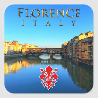 Florence - Ponte Vecchio Square Sticker