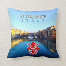 Florence - Ponte Vecchio Throw Pillow
