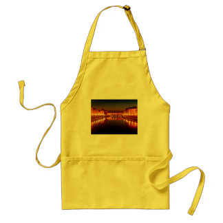 Florence river at night adult apron