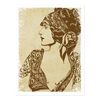 """Florence"" ~ Roaring 20's Postcard"