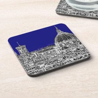 Florence royal blue coaster