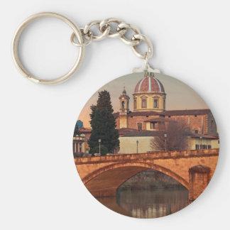 Florence - San Frediano in Cestello Basic Round Button Keychain