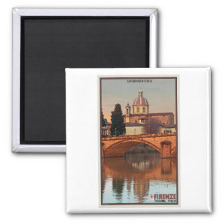Florence - San Frediano in Cestello 2 Inch Square Magnet