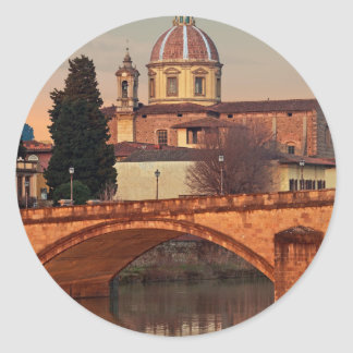 Florence - San Frediano in Cestello Classic Round Sticker
