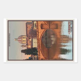 Florence - San Frediano in Cestello Rectangular Sticker