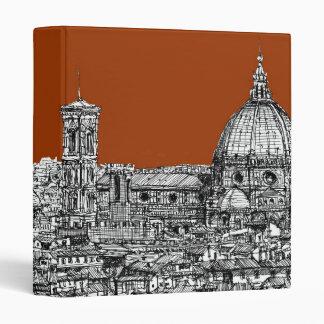 Florence sepia brown binder