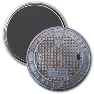 Florence Sewer Cover 3 Inch Round Magnet