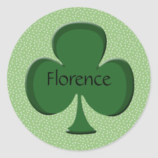 Florence Shamrock Name Sticker / Seal