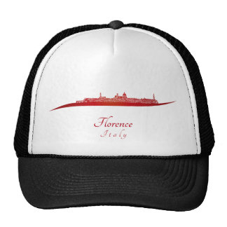 Florence skyline in red gorras de camionero