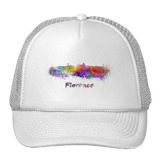 Florence skyline in watercolor trucker hat