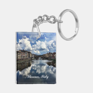 Florence Square (double-sided) Keychain
