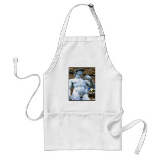 Florence Statue of David With Love Quote Adult Apron