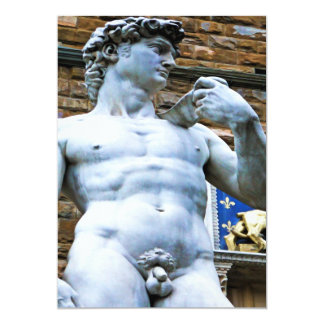 Florence Statue of David With Love Quote Custom Announcements