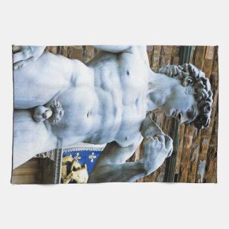 Florence Statue of David With Love Quote Hand Towels