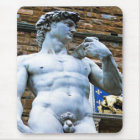 Florence Statue of David With Love Quote Mouse Pad