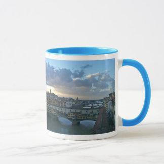 Florence - Sunset, Arno River Bridges Mug