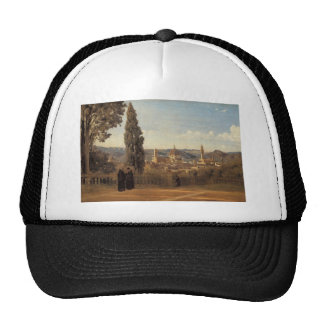 Florence, The Boboli Gardens by Camille Corot Trucker Hat